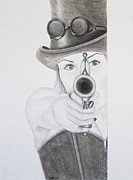 Steampunk Drawings - In My Sights by Stephanie Leyva