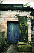 Headstone Framed Prints - In Old Calton Cemetery Framed Print by RicardMN Photography