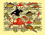 Tuna Posters - In Our Sea Poster by Betsy A Cutler East Coast Barrier Islands