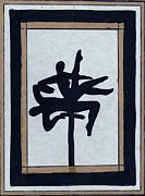 Block Print Originals - In Perfect Balance by Barbara St Jean