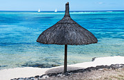 Beach Umbrella Posters - In Perfect Balance. Beach Life Poster by Jenny Rainbow