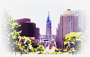 Hall Digital Art Framed Prints - In Philadelphia Framed Print by Bill Cannon