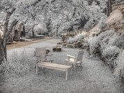 Dreamy Infrared Photo Art Framed Prints - In Quiet Places Framed Print by Jane Linders