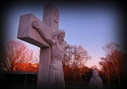Crucifixtion  Art - In Sacrifice is Peace by John Malone