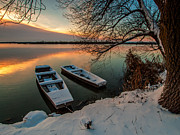 Snow Landscapes Art - In safe harbor by Davorin Mance