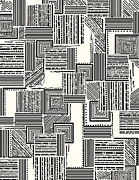 Black And White Abstract Art - In Stitches by Khristian Howell