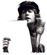 In Studio John Lennon Print by Iconic Images Art Gallery David Pucciarelli