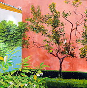 Seville Painting Prints - In the Alcazar Print by Darrell Sheppard