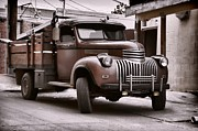 Chevy Pickup Photo Prints - In the Alley Print by Ken Smith