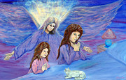 Child Praying Paintings - In the Arms of an Angel by Gloria Koch