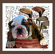 Custom Dog Portraits Framed Prints - In the Bag Framed Print by Elizabeth  Just