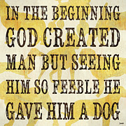 Dog Posters - In the Beginning... Poster by Debbie DeWitt