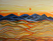 Macrocosm Paintings - In The Beginning by Kathleen Peltomaa Lewis