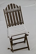 Lawn Chair Metal Prints - In The Cold Metal Print by Odd Jeppesen
