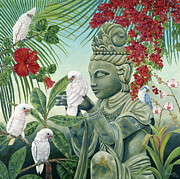 Buddah Prints - In the Company of Angels Print by Danielle  Perry