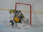 Hockey Goalie Paintings - In the Crease by Jann Barron