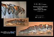 Glass Wall Sculptures - In the Curl by Mark Ansier
