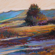 Barnstable Pastels Posters - In the Dunes Poster by Ed Chesnovitch