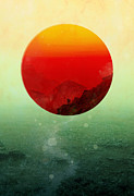 Setting Digital Art Framed Prints - In the end the sun rises Framed Print by Budi Satria Kwan
