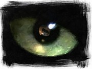Cats Eye Prints - In the eye of the hunter Print by Gun Legler