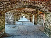 Dry Tortugas Framed Prints - In The Fort Arches Framed Print by Alice Gipson