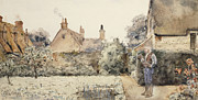 Posture Prints - In the Garden Print by Childe Hassam
