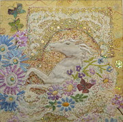 Stately Mixed Media Posters - In the Garden Poster by Hazel Millington