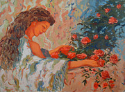 Most Popular Paintings - In the Garden by Monica Caballero