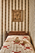 Bed Quilt Posters - In the Girls Room Poster by Margie Hurwich