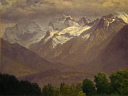 Famous Artists - In the High Mountains by Albert Bierstadt