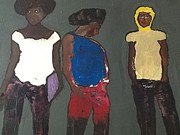 Discrimination Paintings - In The Hood by Omar Hafidi