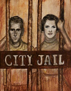 Regina Brandt Art - In the Jailhouse Now by Regina Brandt