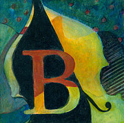 Music Art Painting Originals - In The Key of B by Susanne Clark