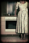 Woman Photos - In The Kitchen by Joana Kruse