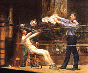 Boxing Ring Framed Prints - In The Mid Time detail Framed Print by Thomas Eakins