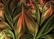 Youthful Digital Art Metal Prints - In The Midst Of Nature Abstract Metal Print by Zeana Romanovna