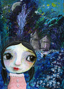 Shirley Mixed Media - In the Night Garden by Shirley Dawson