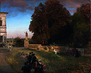 Oswald Achenbach - In the Park of the Villa Borghese by Oswald Achenbach