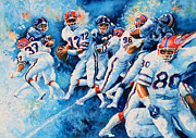 American Football Painting Metal Prints - In The Pocket Metal Print by Hanne Lore Koehler