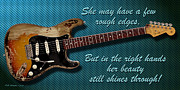 Fender Strat Digital Art - In the Right Hands by WB Johnston