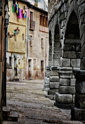 Alleyway Prints - In the Shadow Print by Joan Carroll