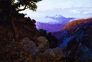 Canyon Paintings - In the Shadows Ciffs of San Juan by Pg Reproductions