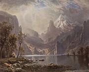 Bierstadt Prints - In The Sierras Print by Albert Bierstadt