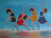 Dancing Girl Paintings - In The Spirit by Beverly Livingstone