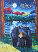 Colorado Wildlife Pastels Framed Prints - In the Still of the Night Framed Print by Harriet Peck Taylor