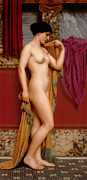 John Digital Art - In The Tepidarium by John Williams Godward