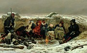 Freezing Prints - In The Trenches Print by Alphonse Marie de Neuville