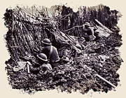 Trench Warfare Prints - In The Trenches Print by Daniel Hagerman