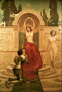 Man And Woman In Love Framed Prints - In the Venusburg Framed Print by The Honourable John Collier