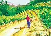In The Vineyard Print by Ray Cole